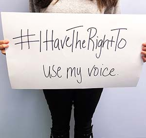 #ihavetherightto use my voice